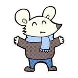 komiczna kreskówki mysz Obrazy Stock