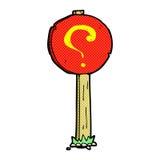 komicznego kreskówka znaka zapytania szyldowa poczta Obrazy Stock