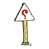komicznego kreskówka znaka zapytania szyldowa poczta Obrazy Royalty Free