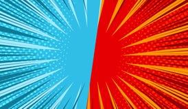 Komicznego pojedynku horyzontalny szablon royalty ilustracja
