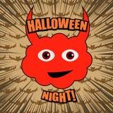 Komicznej Halloweenowej nocy humorystyczny szablon ilustracji