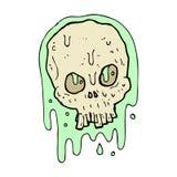 komicznej kreskówki śluzowata czaszka ilustracji