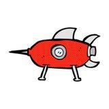 komicznej kreskówki astronautyczna rakieta Zdjęcie Stock