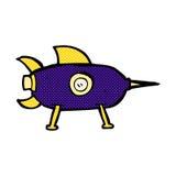 komicznej kreskówki astronautyczna rakieta Fotografia Stock