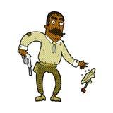 komicznej kreskówki dziki zachodni kowboj Zdjęcie Royalty Free
