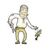 komicznej kreskówki dziki zachodni kowboj Fotografia Royalty Free