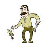 komicznej kreskówki dziki zachodni kowboj Fotografia Stock