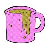 komicznej kreskówki kawowy kubek Obrazy Royalty Free