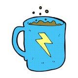 komicznej kreskówki kawowy kubek Fotografia Royalty Free