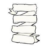 komicznej kreskówki ślimacznicy heraldyczny sztandar Zdjęcia Stock