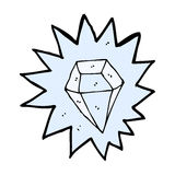 komicznej kreskówki ogromny diament ilustracji