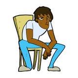 komicznej kreskówki oklapnięty mężczyzna Fotografia Royalty Free