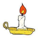 komicznej kreskówki stary candlestick ilustracja wektor