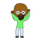komicznej kreskówki zaakcentowany łysy mężczyzna Zdjęcia Royalty Free