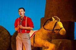 Komicznej opery miłości napój Zdjęcia Royalty Free