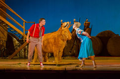 Komicznej opery miłości napój Obrazy Royalty Free