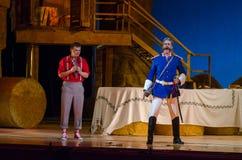 Komicznej opery miłości napój Zdjęcie Royalty Free