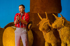 Komicznej opery miłości napój Fotografia Royalty Free