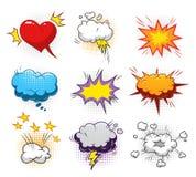 Komiczni dynamiczni elementy ustawiający ilustracji