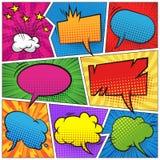 Komiczni kolorowi puści mowa bąble ustawiający royalty ilustracja