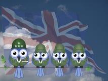 Komiczni UK żołnierze ilustracji