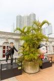 Komiczny charakter przy aleją komiczka Gra główna rolę w Hong Kong obraz royalty free