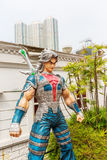 Komiczny charakter przy aleją komiczka Gra główna rolę w Hong Kong zdjęcia stock