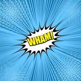 Komiczny kolorowy Wham sformułowania pojęcie ilustracja wektor