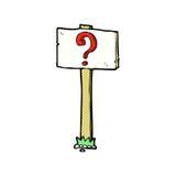 komiczny kreskówka kierunkowskaz z znakiem zapytania Obraz Stock