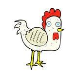 komiczny kreskówka kurczak Obrazy Royalty Free