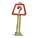 komiczny kreskówka znaka zapytania znak Obraz Stock