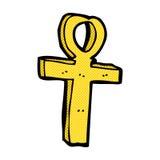 komiczny kreskówki ankh symbol Zdjęcia Stock