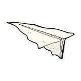 komiczny kreskówka papieru samolot Zdjęcia Royalty Free