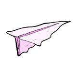 komiczny kreskówka papieru samolot Obrazy Royalty Free
