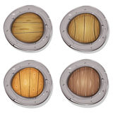 Komiker rundade Viking Shields stock illustrationer