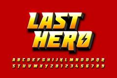 Komiker utformar stilsortsdesignen, inspirerat alfabet för superhero vektor illustrationer