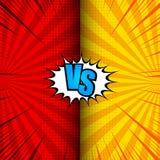 Komiker VS dynamiskt begrepp vektor illustrationer