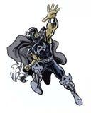 Komiks ilustrujący ostrze wojownika charakter w akci pozie ilustracji