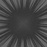 Komiksu Błyskowego wybuchu Promieniowy tło wektor Zdjęcie Stock
