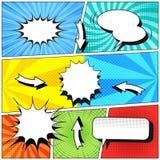 Komiksu kolorowy szablon Zdjęcie Stock
