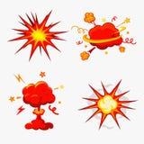 Komiksu wybuch, bomby I wybuchu set, Fotografia Royalty Free
