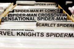Komiksy dla sprzedaży przy MCM Birmingham Komicznym przeciwem zdjęcia stock