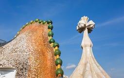 Komin Casa Batllo, Barcelona Obrazy Royalty Free