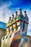 Komin Casa Batllo budynek w Barcelona w Hiszpania Zdjęcia Royalty Free