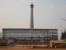 Komin Przemysłowy teren Zdjęcie Stock