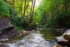 komin skały Parkowy wycieczkuje wodny strumień fotografia stock