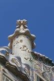 Komin z krzyżem Casa Batllo projektujący Antoni Gaudi Barcelona Fotografia Royalty Free