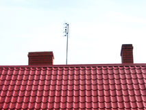 komina dach Obraz Royalty Free