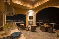 kominek meblujący patio Fotografia Stock