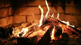 kominek płonący ogień zbiory